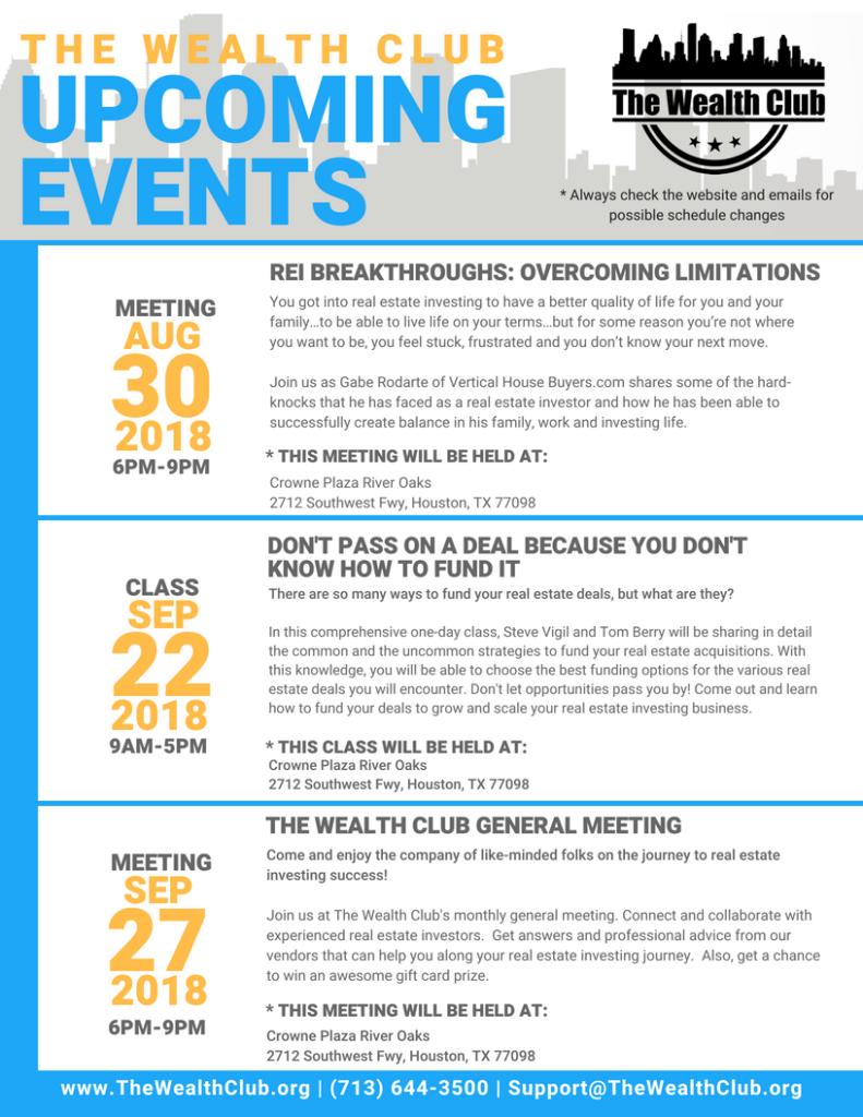 August Meeting Events Sheet (TWC)