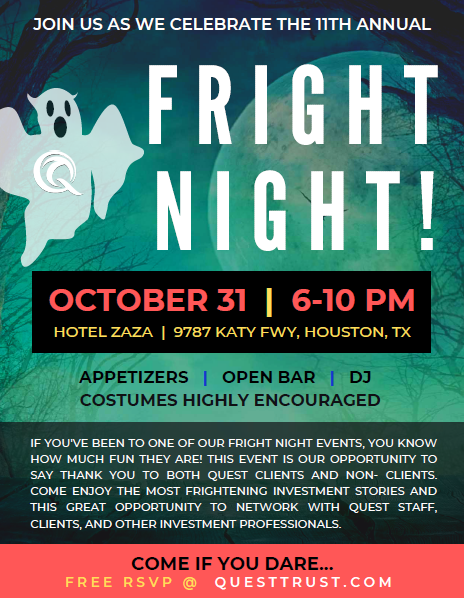 Quest Fright Night Flyer